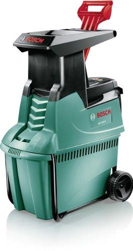 Bosch AXT 25 D Häcksler + Fangbox 53 l + Stopfer (2.500 W, max. Ø 40 mm Schneidekapazität, ca. 175 kg/h Materialdurchsatz) -